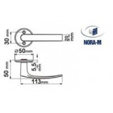Нора-М Ручка для финских двер. 116 (белая) /006 WL