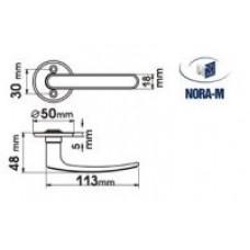 Нора-М Ручка для финских двер. 117 (мат.хром) /007 SC